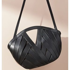NWT Black Woven Handbag/Tote
